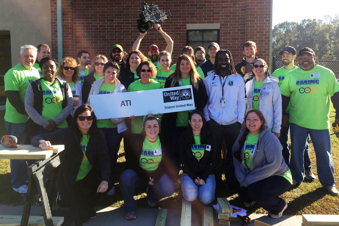 Photo of ATI team members volunteering at the United Way Day of Caring