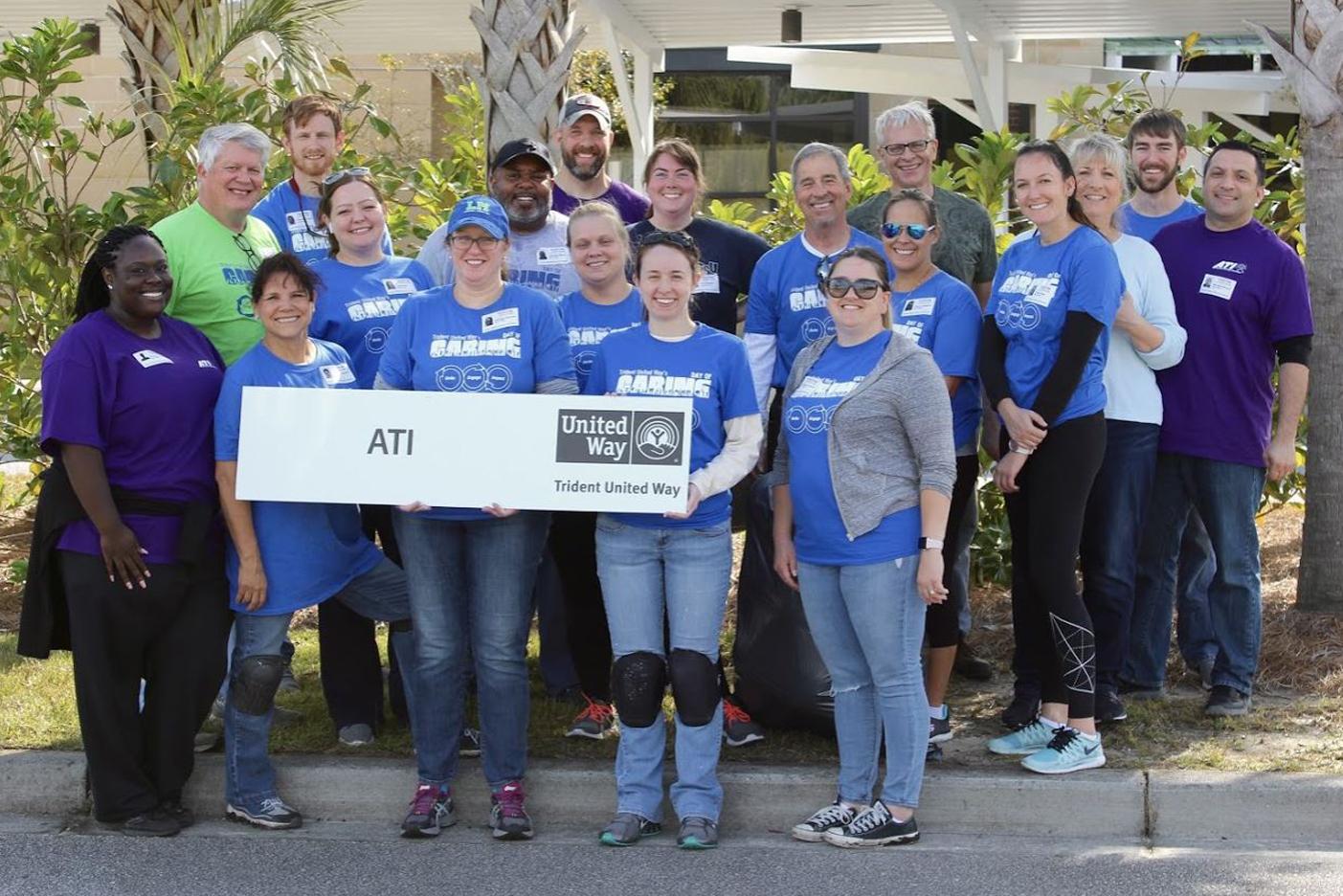 Photo of ATI team members volunteering